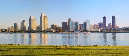 diego: Downtown San Diego, Southern California, West Coast USA  Water Front San Diego Bay, California  Panorama