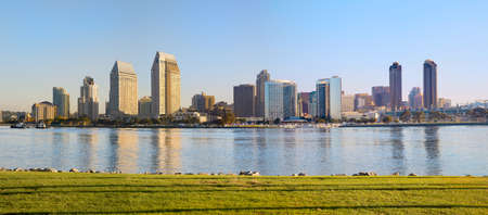Downtown San Diego, Zuid-Californië, West Coast USA Water Front Baai van San Diego, Californië Panorama