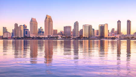 Downtown Stad van San Diego, California USA Stockfoto