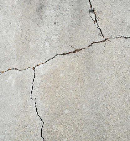 Cracks in a Cement Drive Way Stock fotó