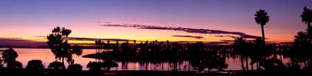 Mission Bay San Diego, California Sunset Panorama
