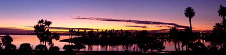 purple sunset: Mission Bay San Diego, California Sunset Panorama