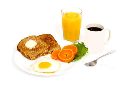 Morning Egg Ontbijt op een witte achtergrond