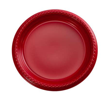 Red Plastic Plate, Beschikbare Plastic Plaat voor partijen