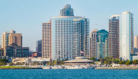 Downtown San Diego City View from Coronado Island, San Diego Southern California