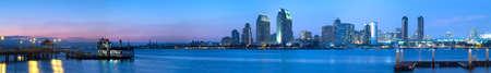 Cityscape Van de binnenstad van San Diego, Californië Verenigde Staten, Californië Toerisme