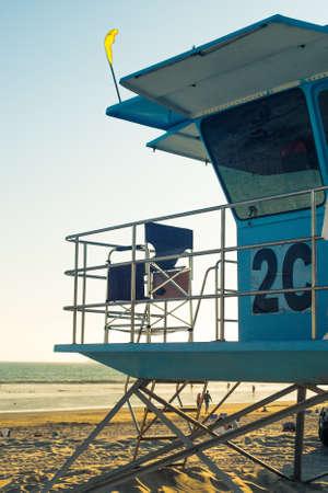 Badmeester toren op het strand in San Diego, California USA