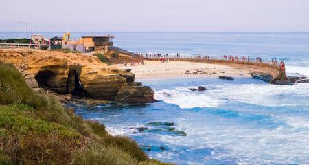 california coast: San Diego La Jolla Cove Childrens Pool, San Diego, California