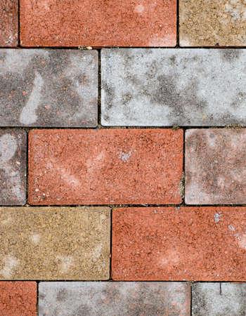 Gekleurde Brick Arrangement Achtergrond Detail Stockfoto