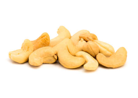 Cashews Isolated on a White Background