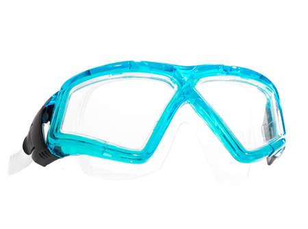 Scuba Goggles voor zwemmen in de zee, die op een witte achtergrond