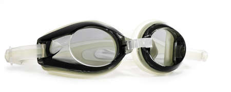 Tinted Swim Goggles Isolated on a White Background