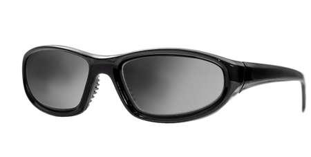 Zwarte zonnebril geïsoleerd op een witte achtergrond Stockfoto