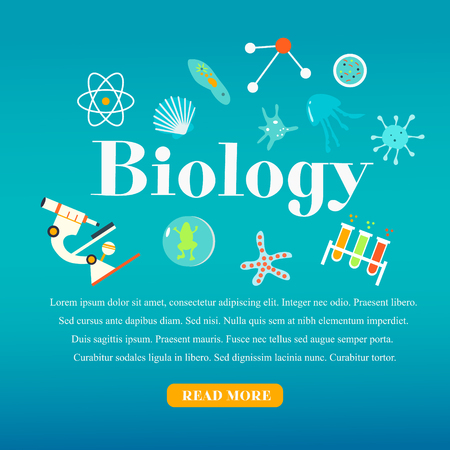 Education and science concept illustrations. Biology lesson Illustration