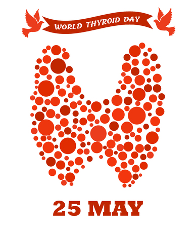 World thyroid day poster. Human thyroid disease awareness. Thyroid Solidarity Day. Ilustracja