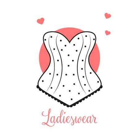 Plantilla de diseño de logotipo de moda femenina Emblema de lencería Logos