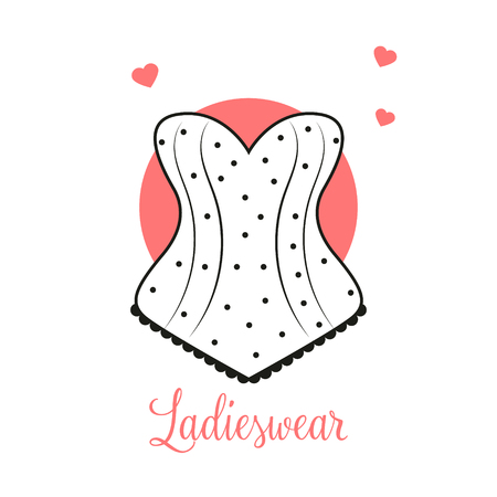 Women fashion logo design template Lingerie emblem Vectores