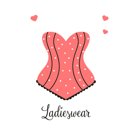 Women fashion logo design template Lingerie emblem Vettoriali