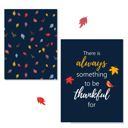 Thanksgiving greeting card with greeting
