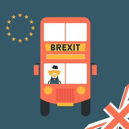 Brexit concept illustration United Kingdom leaving EU