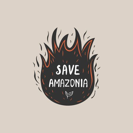 Save Amazonia concept. A Graphic abstract design. Illustration