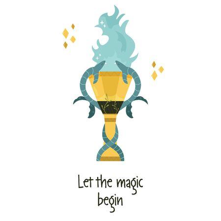 Illustration vectorielle de coupe magique de feu