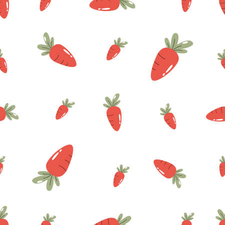 Seamless pattern with carrots of different sizes.