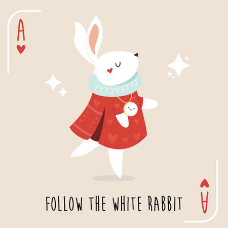 Colorful composition with White Rabbit