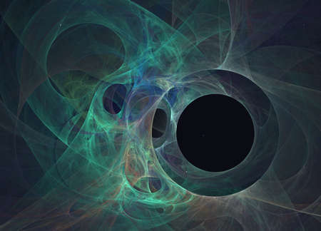 Black hole. Abstract fractal background