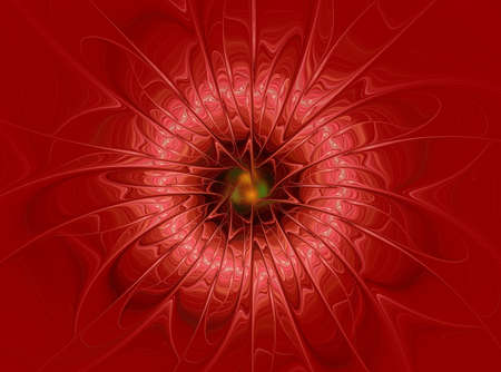 Red abstract flower Banco de Imagens