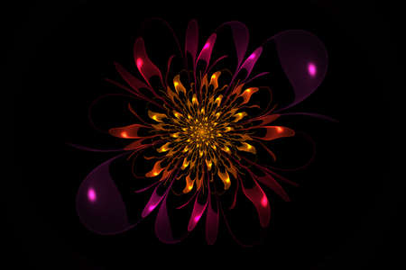 Abstract flower. Computer generated picture