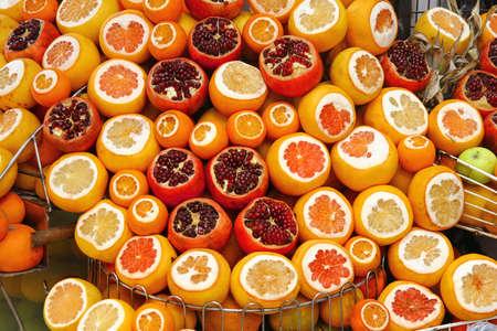 oranges, lemans and grapefruits for juice Banco de Imagens