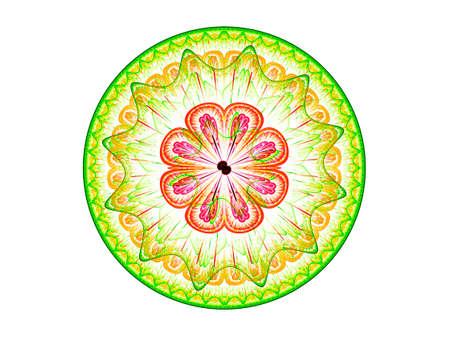Floral mandala. Computer generated picture Banco de Imagens