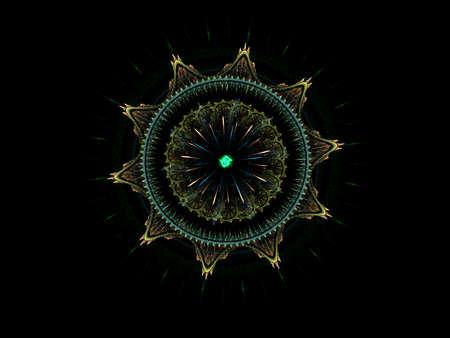 Star mandala. Computer generated picture
