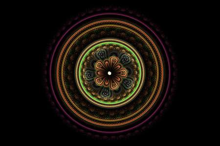 Ornamental mandala. Computer generated picture Banco de Imagens