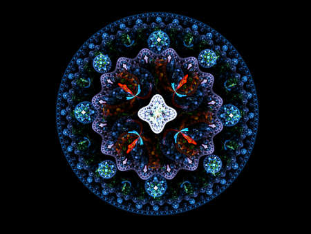 Jewel mandala. Computer generated picture