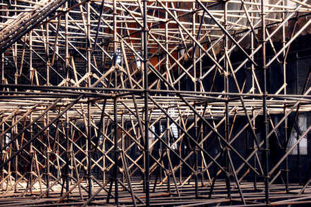 Scaffolding (safety equipment on a construction site) Banco de Imagens
