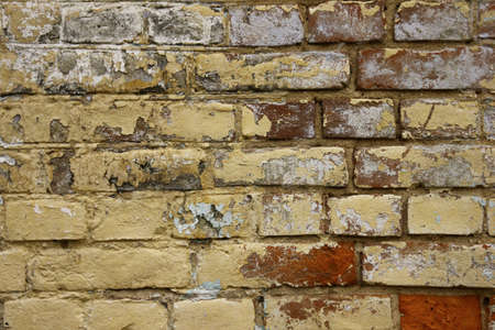 old white brick wall texture background Banco de Imagens