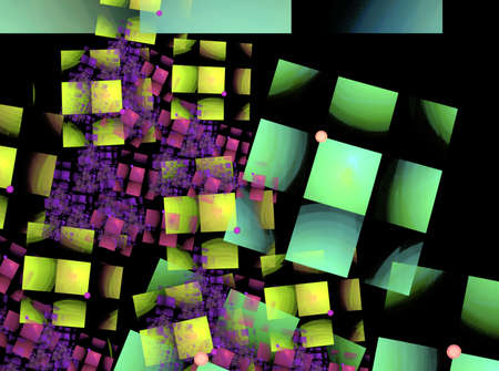 Multicolored squares. Abstract background. Compluter generated picture Banco de Imagens