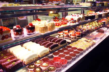 Patisserie. Verscheidenheid van cakes