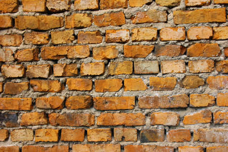 red brick wall: old red brick wall texture background