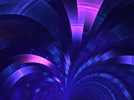 Dark-blue fan. Abstract fractal background Banco de Imagens