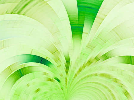 Green fan. Abstract fractal background Banco de Imagens