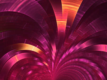 Crimson  fan. Abstract fractal background