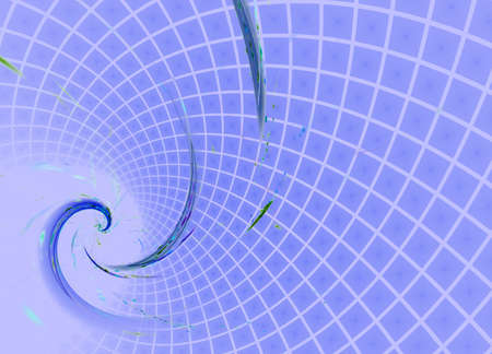Blue spiral. Computer generated picture.