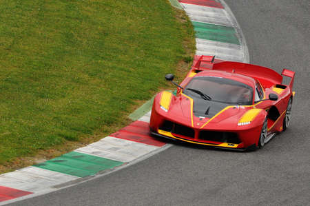 MUGELLO, ITALY - NOVEMBER 6, 2015: Ferrari FXX K during XX Programs of Ferrari Racing Days at Mugello Circuit