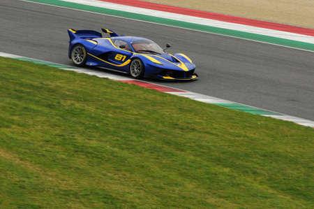 MUGELLO, ITALY - NOVEMBER 6, 2015: Ferrari FXX K during XX Programs of Ferrari Racing Days at Mugello Circuit