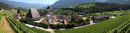 Novacella Monastery, Varna, Bolzano, Trentino Alto Adige, Italy - Panorama view