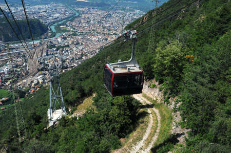City of Bolzano, Italy - View of town from cableway Editorial