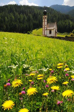 St. Johann Church, Santa Maddalena, Val di Funes, Dolomites, Italy Stock Photo - 78964141